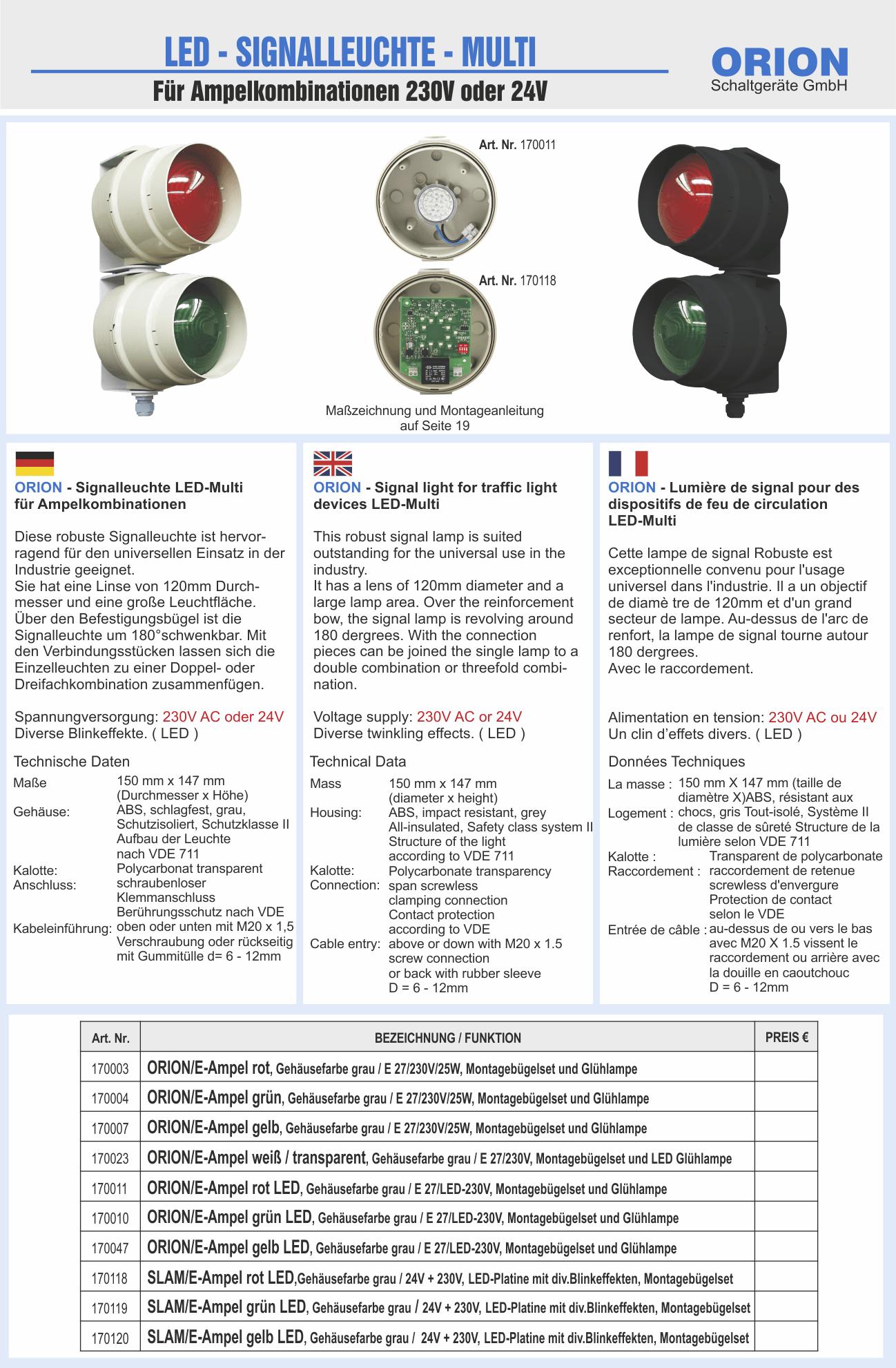 Signalleuchte LED-Multi